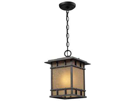Elk Lighting Newlton Weathered Charcoal Outdoor LED Hanging Light