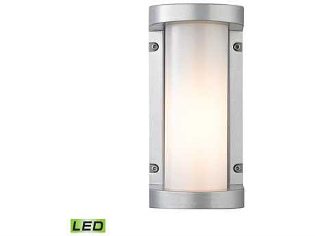 Elk Lighting Colby Matte Silver 5'' Wide Outdoor Wall Light