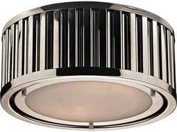 Elk Lighting Linden Polished Nickel Two-Light 12'' Wide Flush Mount Light