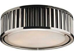Elk Lighting Linden Polished Nickel Three-Light 16'' Wide Flush Mount Light