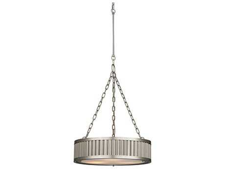 Elk Lighting Linden Brushed Nickel Three-Light 20'' Wide Pendant