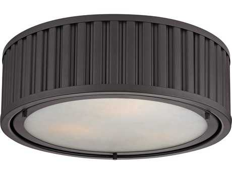 Elk Lighting Linden Oil Rubbed Bronze Three-Light 16'' Wide Flush Mount Light