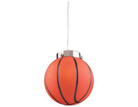 Elk Lighting Novelty Basketball 8'' Wide LED Pendant