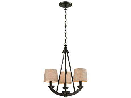 Elk Lighting Morrison Oil Rubbed Bronze Three-Light 18'' Wide Mini-Chandelier