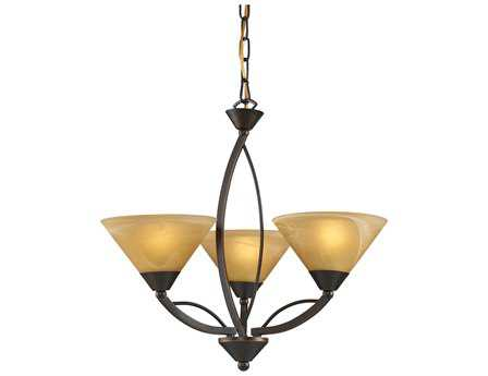 Elk Lighting Elysburg Aged Bronze Three-Light 20'' Wide Mini Chandelier