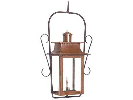 Elk Lighting Maryville Aged Copper Outdoor Gas Hanging Light