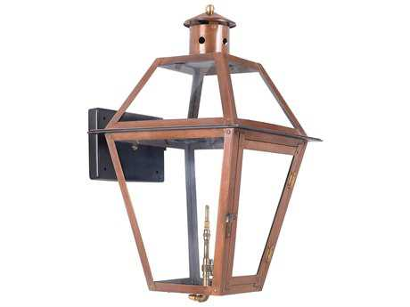 Elk Lighting Grande Isle Aged Copper 14'' Wide Outdoor Gas Wall Light