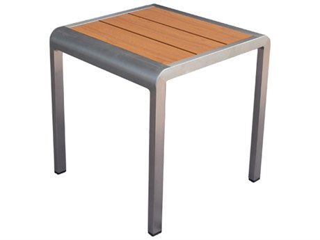 EMU SID Aluminum 17''Wide Square Slat Top End Table PatioLiving
