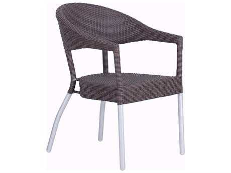 Beautiful EMU Donna Aluminum Stackable Arm Chair