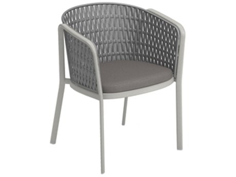 EMU Carousel Aluminum Bronze Flat Rope Back Dining Arm Chair PatioLiving
