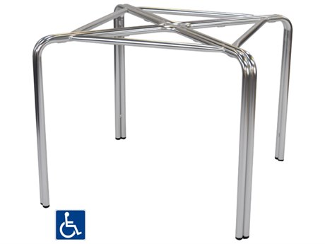 EMU Zeus ADA Aluminum Table Base for 36 Square Tops PatioLiving
