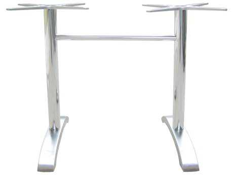 EMU Zak Aluminum 2-Leg Dine 28 x 26 Table Base