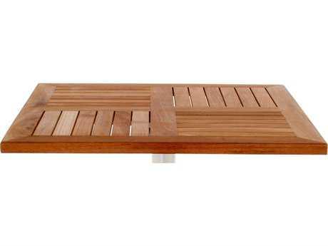 EMU Tom Teak Natural 24''Wide Square Table Top PatioLiving