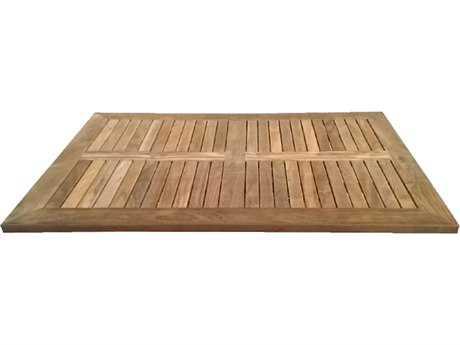 EMU Tom Teak Natural 48''W x 32''D Rectangular Table Top PatioLiving