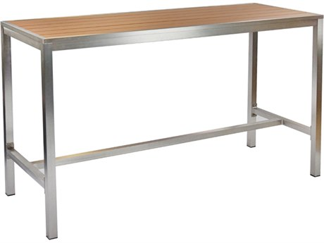 EMU Sid Aluminum 72''W x 28'' Rectangular Bar Table