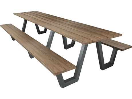 EMU Sid Aluminum 96'W x 32''D Rectangular Picnic Table