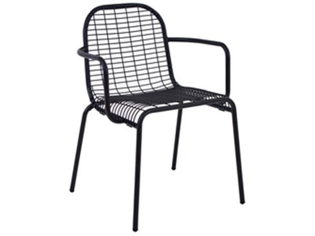 EMU Centina Steel Stacking Dining Arm Chair PatioLiving