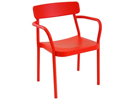 EMU Grace Aluminum Cherry Stacking Dining Arm Chair