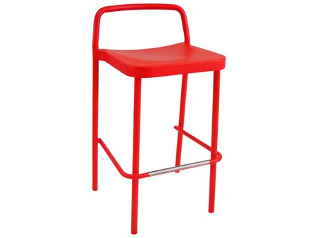 EMU Grace Aluminum Cherry Stacking Bar Stool PatioLiving