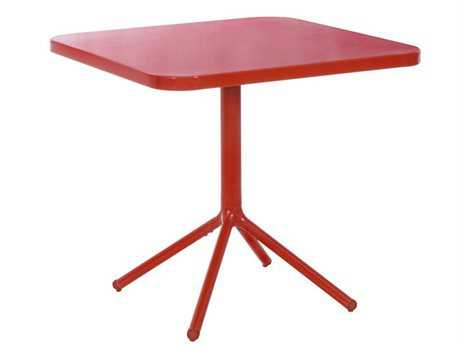 EMU Grace Aluminum 32 Square Tilt Top Nesting Table