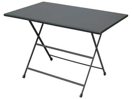EMU Arc En Ciel Steel Iron 44''W x 28''D Rectangular Folding Table PatioLiving
