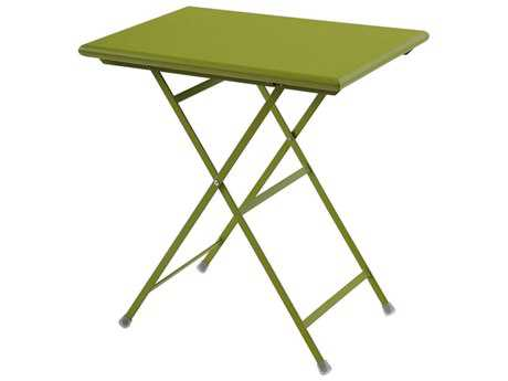EMU Arc En Ciel Steel Green 28''W x 20''D Rectangular Folding Table PatioLiving