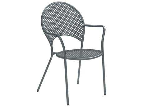 EMU Sole Steel Iron Stacking Dining Arm Chair PatioLiving