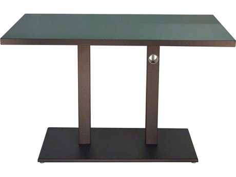 EMU Lock Steel 48 x 32 Rectangular Dining Table