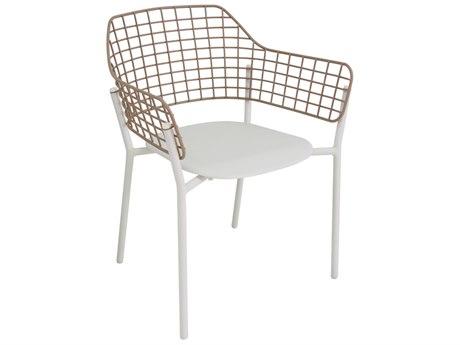 EMU Lyze Aluminum Stainless Steel Arm Chair