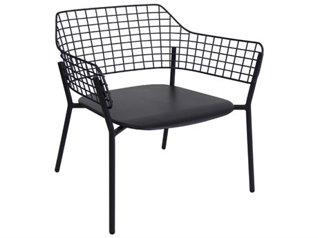 EMU Lyze Aluminum Black Stacking Lounge Chair PatioLiving