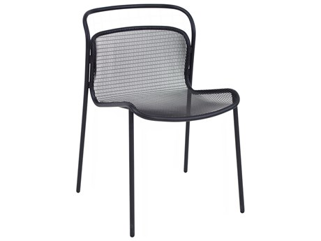 EMU Modern Steel Stackable Dining Side Chair