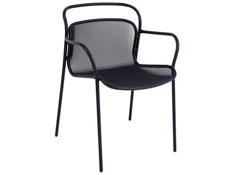 EMU Modern Steel Stackable Dining Arm Chair