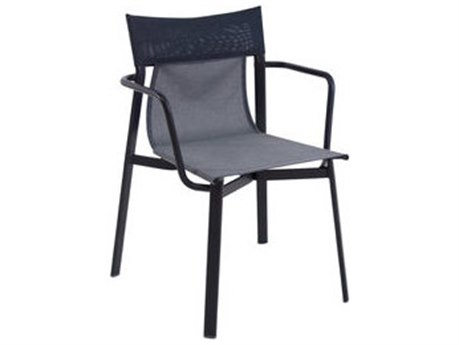 EMU Breeze Aluminum Stacking Dining Arm Chair PatioLiving