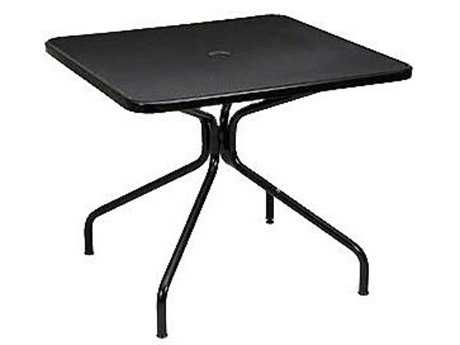EMU Cambi Steel 36 Square Dining Table with Umbrella Hole