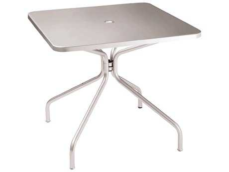 EMU Solid  Steel 36 Square Umbrella Table