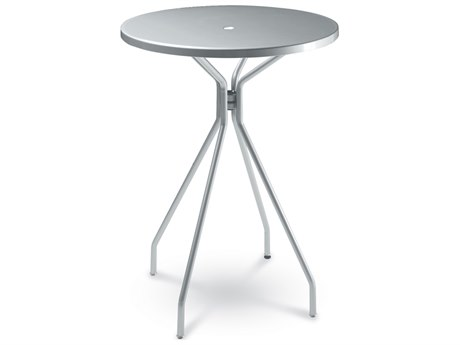 EMU Solid Steel 32''Wide Round Bar Table with Umbrella Hole