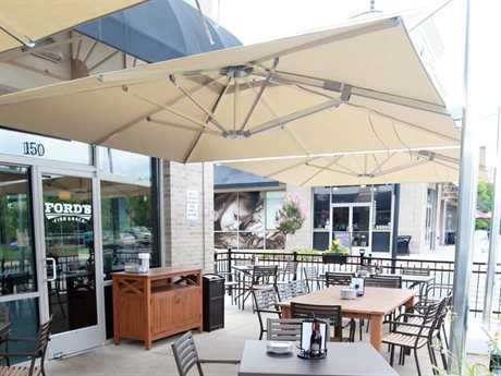 emu shade 10u0027 square cantilever umbrella
