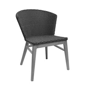 EMU Elly Side Chair Seat Replacement Cushion in Dark Grey PatioLiving
