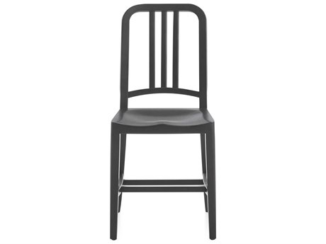 Emeco Outdoor Navy Wood Black Stained Oak Dining Side Chair PatioLiving