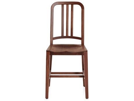 Emeco Outdoor Navy Walnut Wood Dining Side Chair PatioLiving