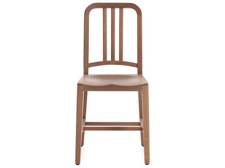 Emeco Outdoor Navy Wood White Oak Dining Side Chair PatioLiving