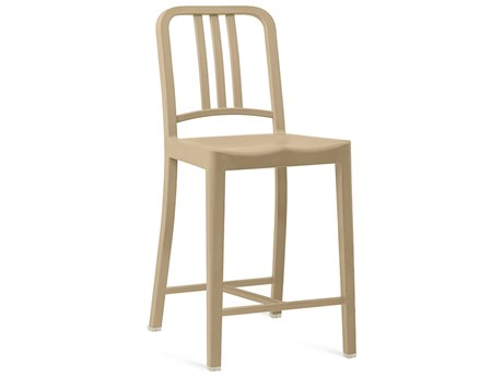Emeco Outdoor Navy Recycled Plastic Beach Counter Stool PatioLiving