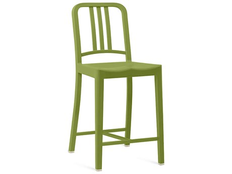Emeco Outdoor Navy Recycled Plastic Grass Counter Stool PatioLiving