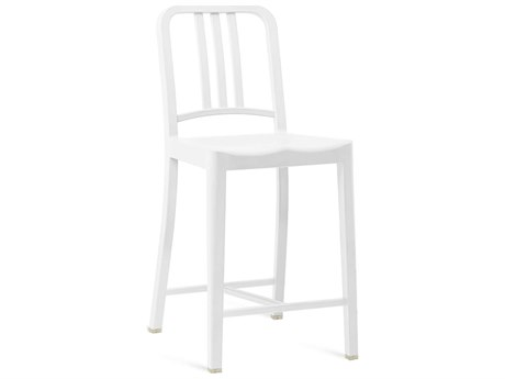 Emeco Outdoor Navy Recycled Plastic Snow Counter Stool PatioLiving