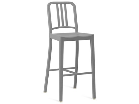 Emeco Outdoor Navy Recycled Plastic Flint Bar Stool