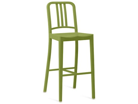 Emeco Outdoor Navy Recycled Plastic Grass Bar Stool