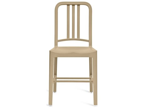 Emeco Outdoor Navy Recycled Plastic Beach Dining Side Chair