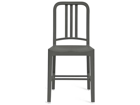 Emeco Outdoor Navy Recycled Plastic Charchoal Dining Side Chair