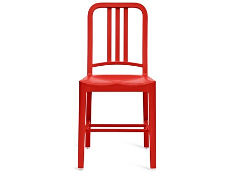 Emeco Outdoor Navy Recycled Plastic Red Dining Side Chair