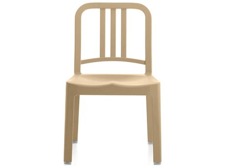Emeco Outdoor Navy Recycled Plastic Beach Mini Dining Side Chair